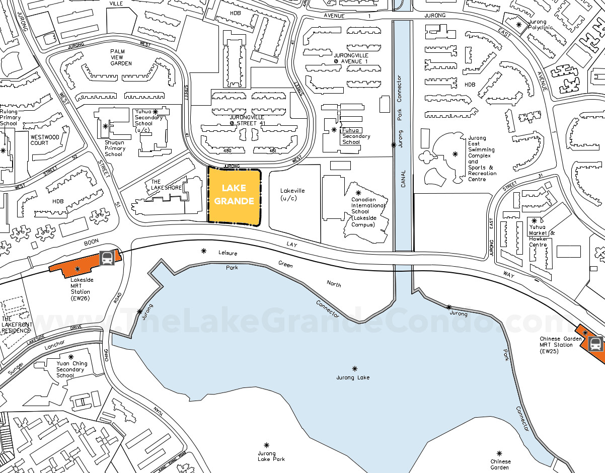 Lake Grande Condo Location Plan