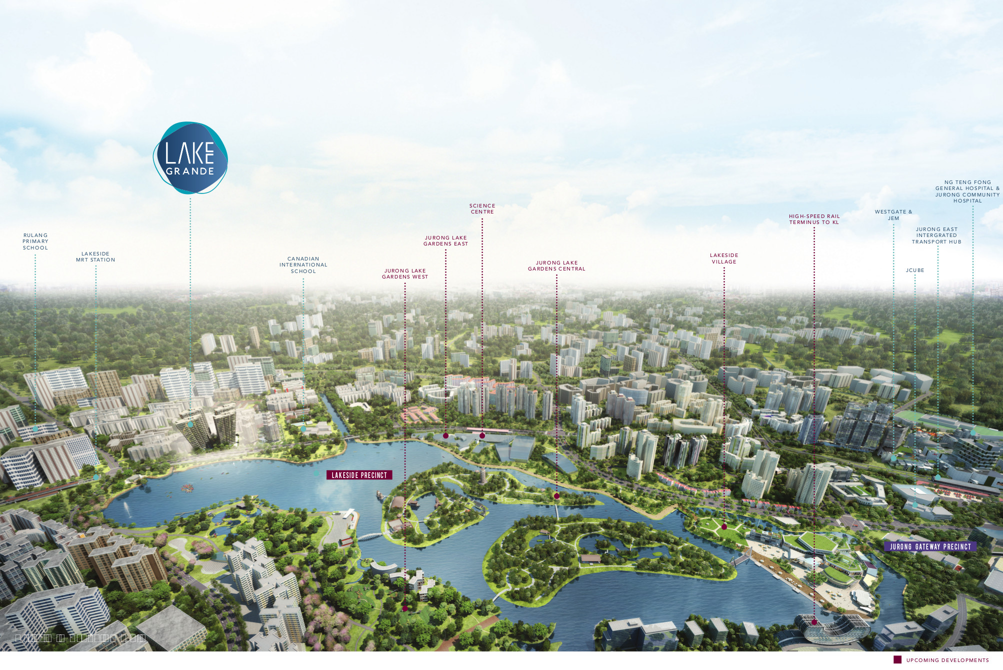 Lake Grande Location in Jurong Masterplan Growth Area