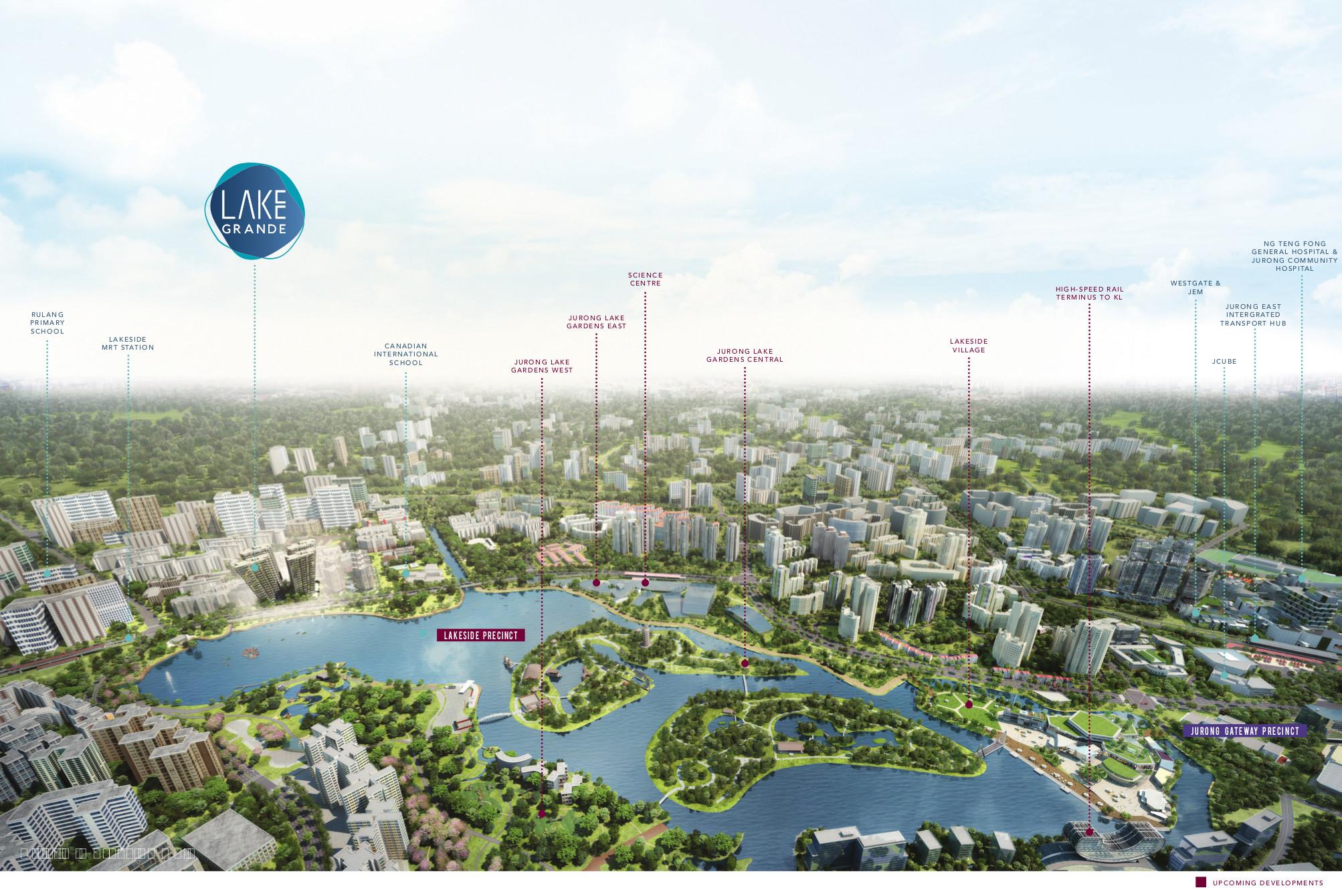 Lake Grande Location in Jurong Masterplan Growth Area
